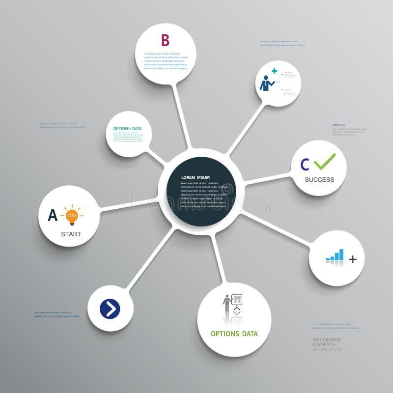 Minimaler infographics Entwurf vektor abbildung