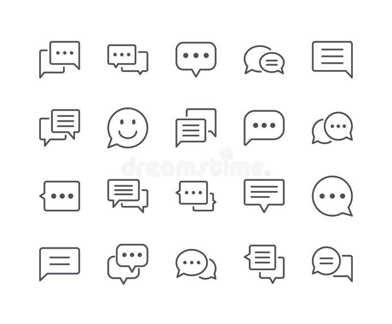Minimaler Satz der Chat-Blasen-Linie Ikonen vektor abbildung