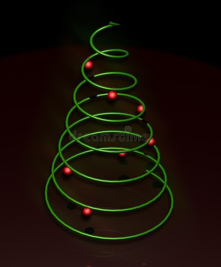 Minimaler Weihnachtsbaum stockfotografie