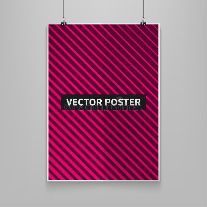Minimales Abdeckungsdesign der Stok-Vektorillustration Geometrische Halbtonsteigungen Futuristischer Poster Schablonen für Plakat stock abbildung