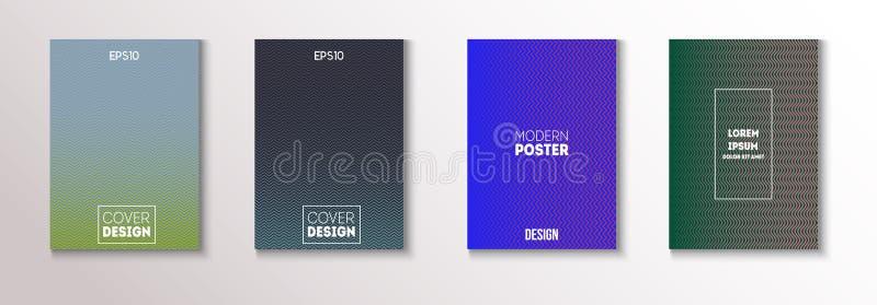 Minimales futuristisches Musik-Plakat, modischer Vektor-Abdeckungs-Entwurf Grün, Rosa, blau, Gray Geometric Blend Presentation, N lizenzfreie abbildung