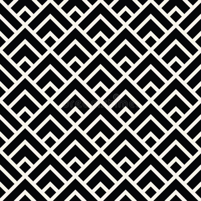 Minimales grafisches Vektormuster der geometrischen Diamantfliese vektor abbildung