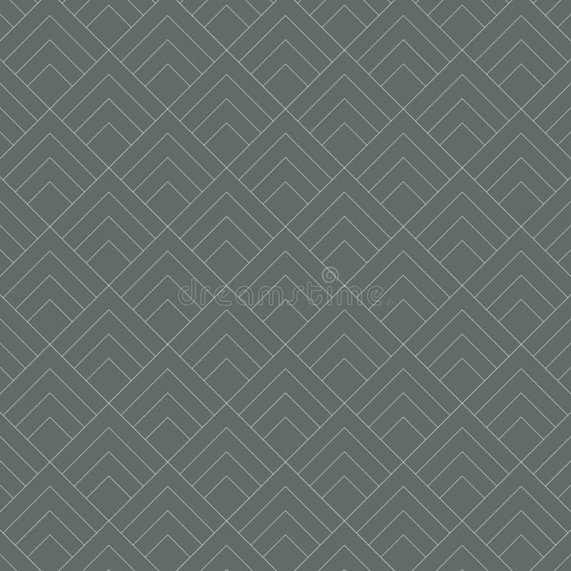 Minimales grafisches Vektormuster der geometrischen Diamantfliese auf dunkelgrünem Hintergrund Muster ist sauber und fähig stimme stock abbildung