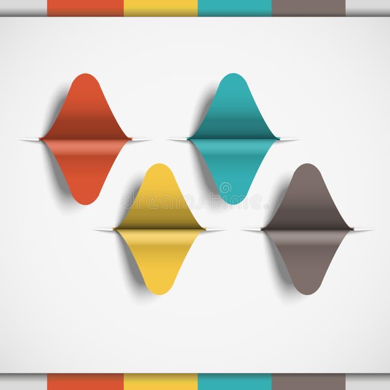 Minimales infographics Design infographic stock abbildung