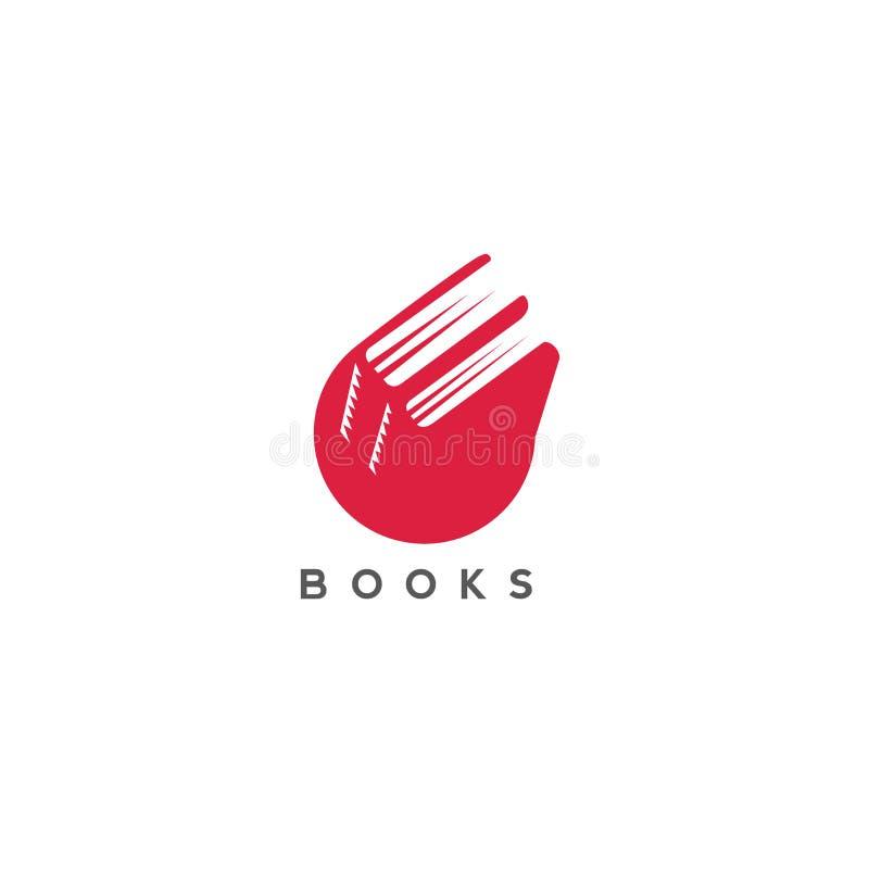 Minimales Logo der roten Farbe bucht Vektorillustration stock abbildung
