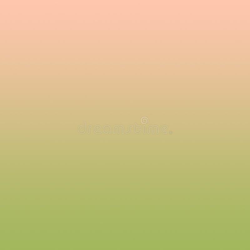 Minimales Muster Steigungs-tausendjähriges Pastellrosa-Olive Green Background Abstract Springs lizenzfreie abbildung