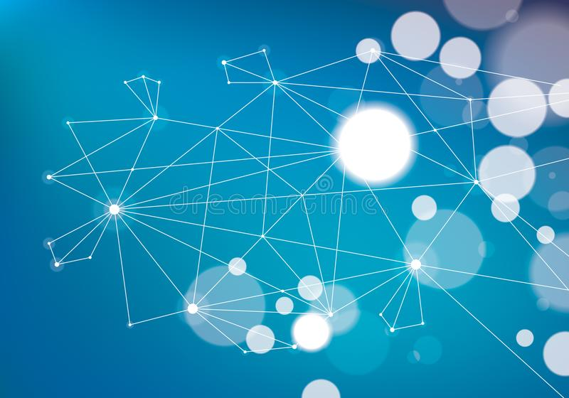 Minimalism chaotic 3d connection communication mesh technology a vector illustration