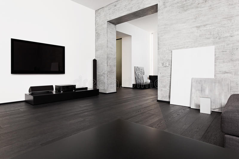 Download Minimalism Style Drawing-room Interior Stock Image - Image: 26206625