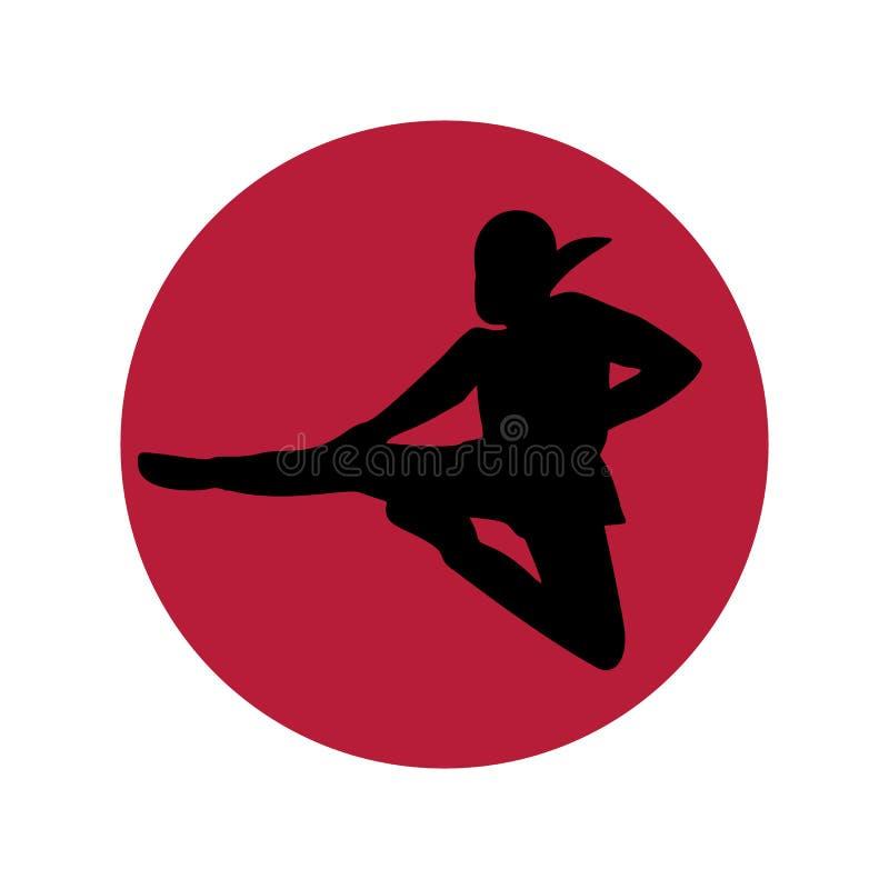 Minimalismo di logo di Ninja illustrazione vettoriale