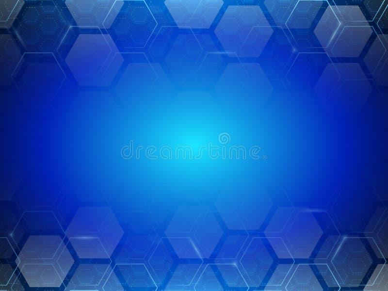 Minimalismo futurista de Digitaces Fondo abstracto del hexágono de la tecnología stock de ilustración