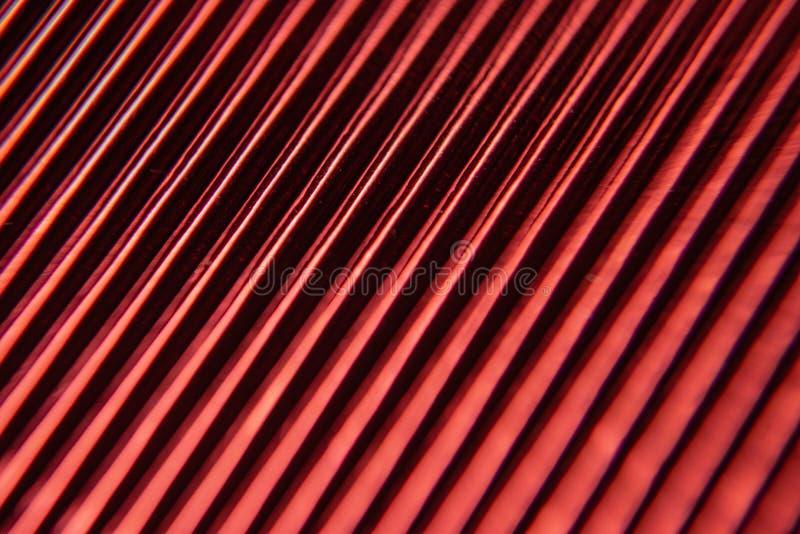 Minimalismo macro da corrugação O ¡ de Ð orrugated o fim de papel metalizado acima Linhas estruturais do fundo foto de stock
