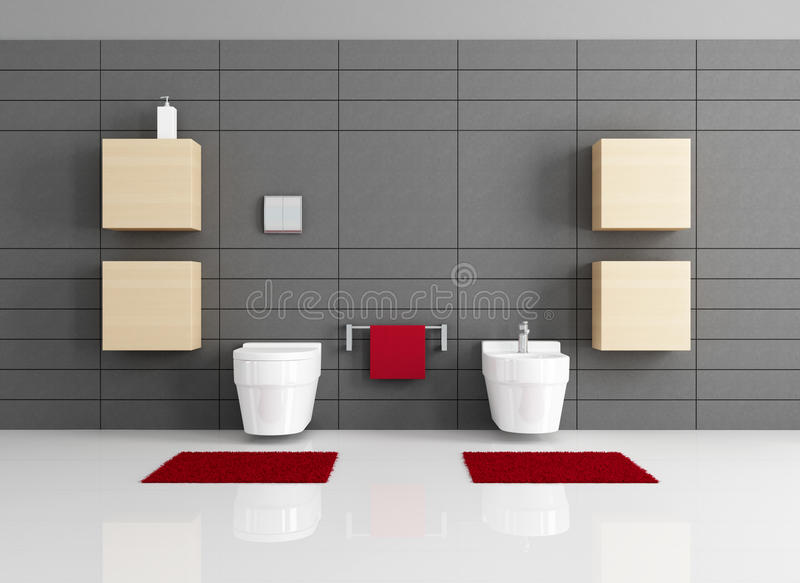 Minimalist Bathroom Royalty Free Stock Photo