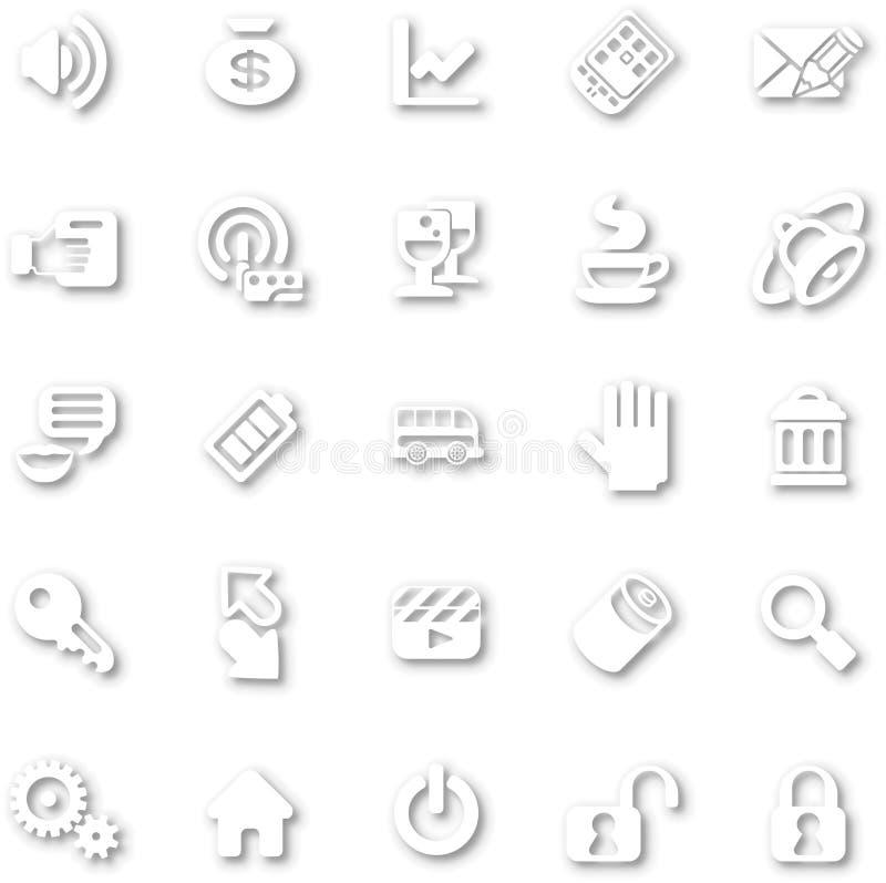 Minimalist blanco determinado del icono