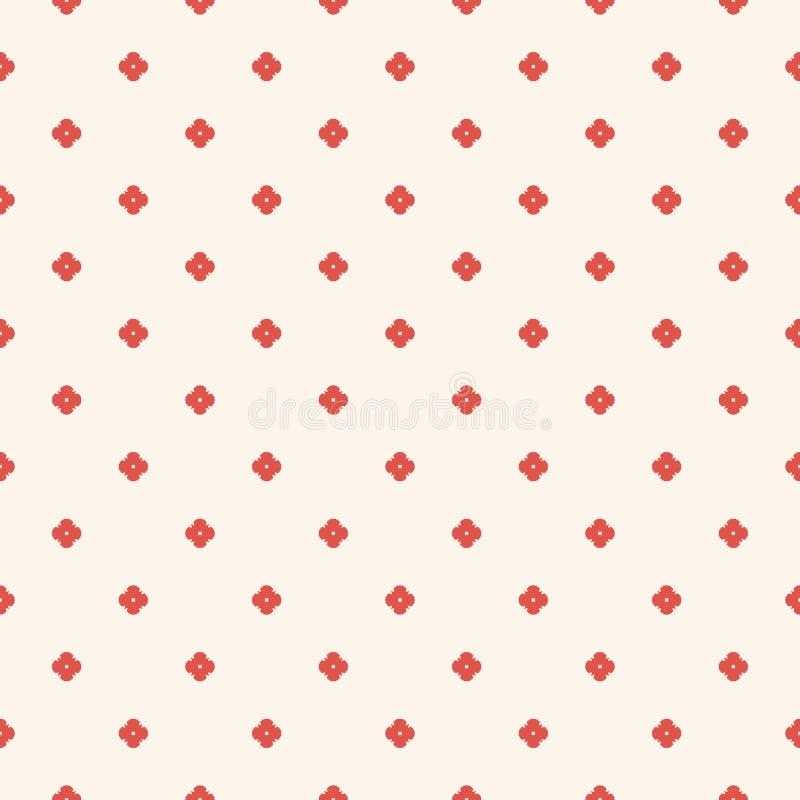 Minimalist blom- geometrisk s?ml?s modell f?r vektor Beige terrakotta som ?r r?d och vektor illustrationer