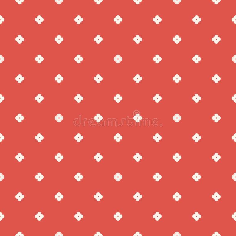 Minimalist blom- geometrisk s?ml?s modell f?r vektor Beige terrakotta som ?r r?d och stock illustrationer
