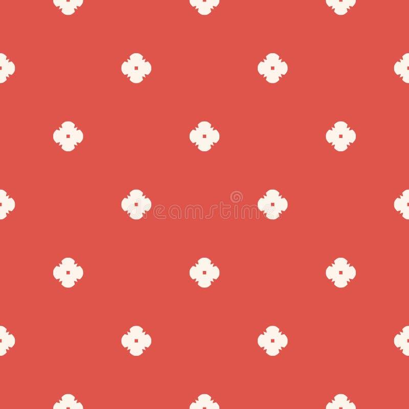 Minimalist blom- geometrisk s?ml?s modell f?r vektor Beige terrakotta som ?r r?d och royaltyfri illustrationer