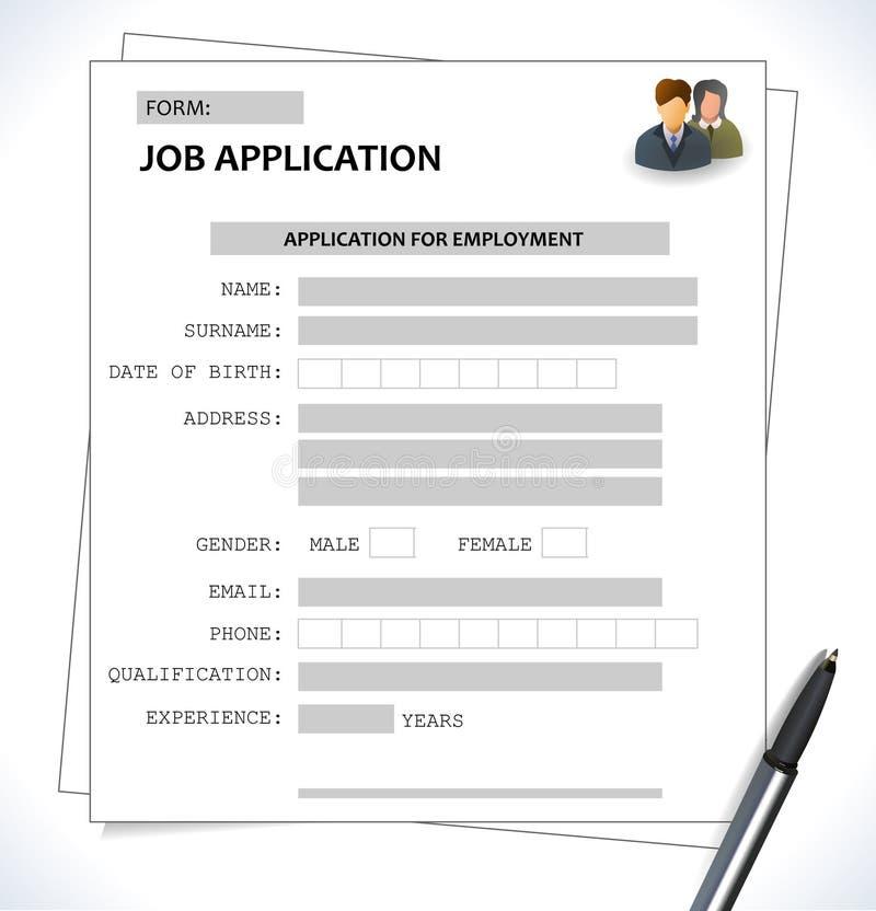 Minimalist Cv Resume Template - Job Application Form Stock Vector ...