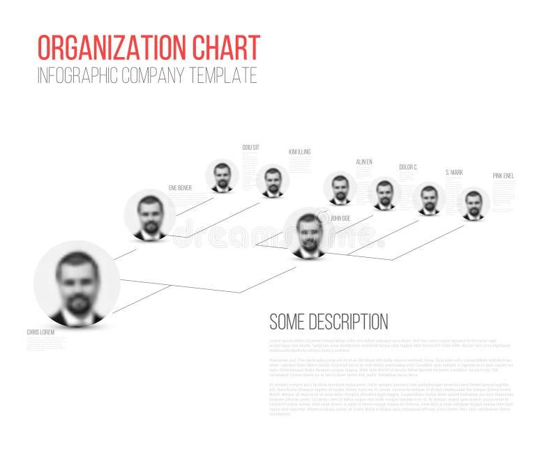Minimalist diagram för hierarki 3d royaltyfri illustrationer