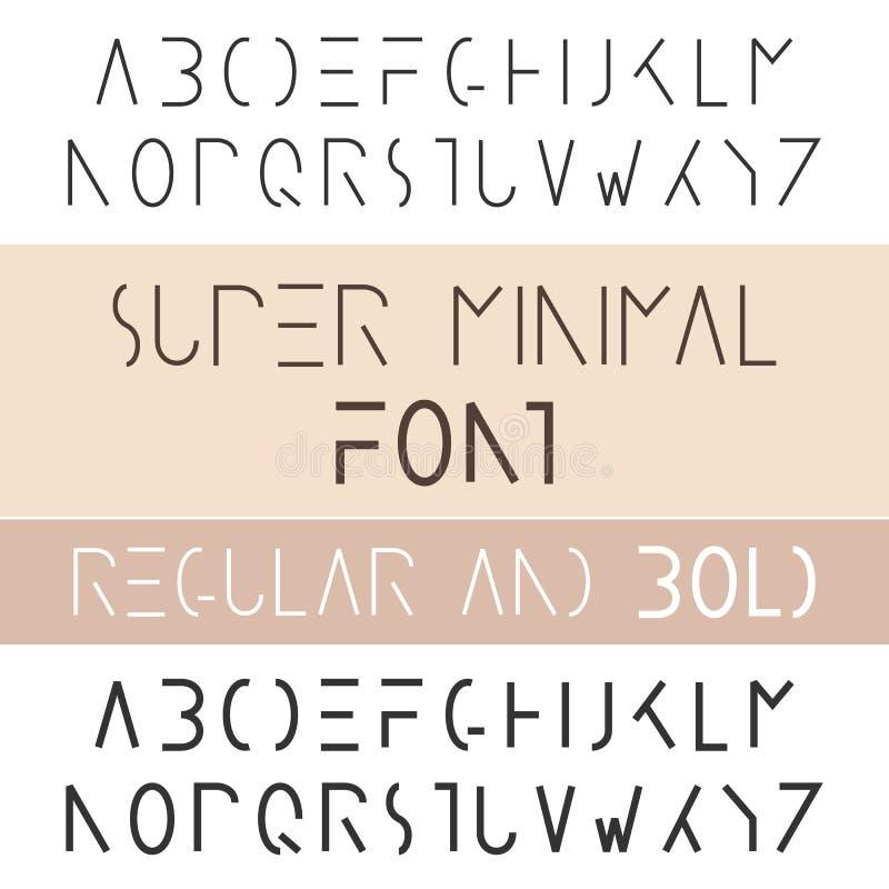 Minimalist font bold and regular minimalism style sans serif stock download minimalist font bold and regular minimalism style sans serif stock vector illustration of altavistaventures Images