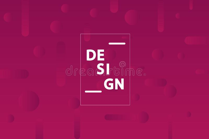 Minimalist geometric background. Trendy gradient shapes composition. Vector Illustration royalty free illustration