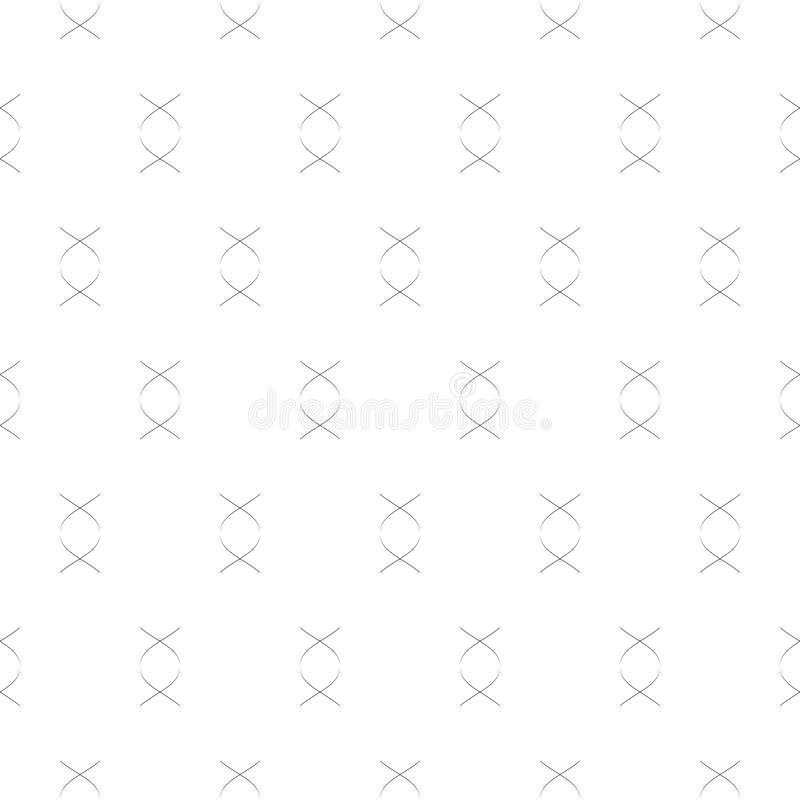 Minimalist geometrisk sömlös modell för enkel vektor med tunna krökta linjer vektor illustrationer