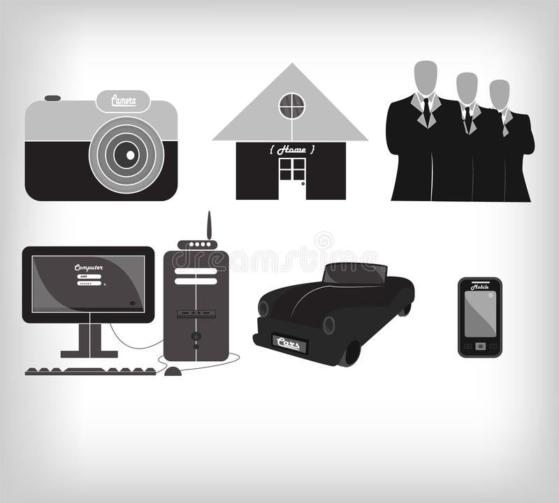 Minimalist Gray Icon Stock Images