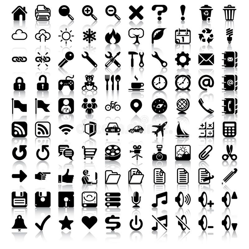 Free Minimalist Icon Set Royalty Free Stock Photos - 30560018