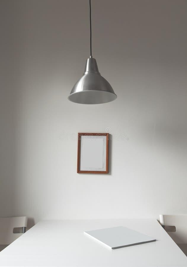 Minimalist inre vit arkivbilder