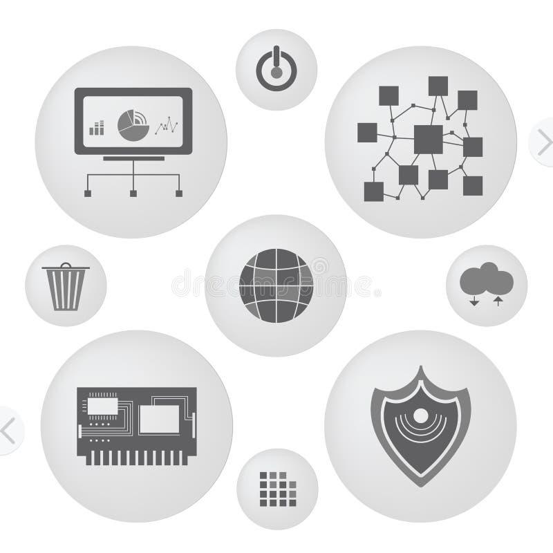 Minimalist Interface Icons Stock Vector