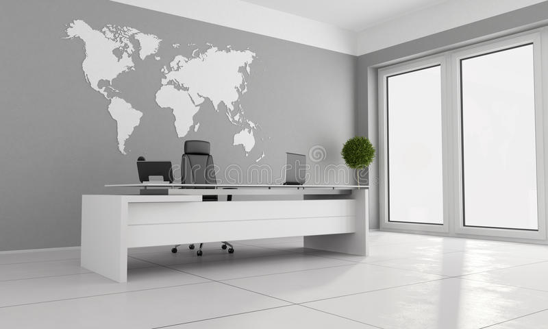 minimalist kontor stock illustrationer