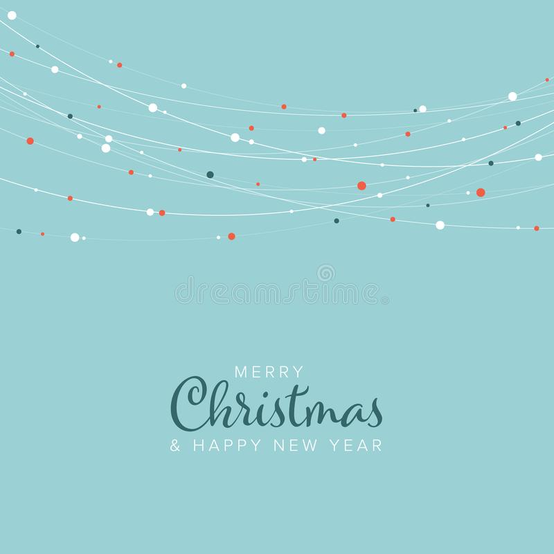 Minimalist Christmas flyer/card template royalty free stock images