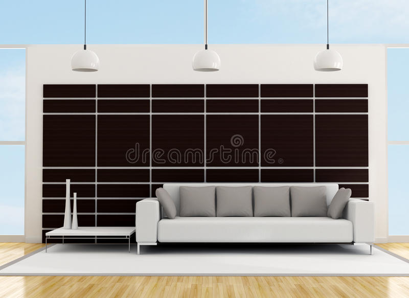 Download Minimalist living room stock illustration. Image of home - 23090597