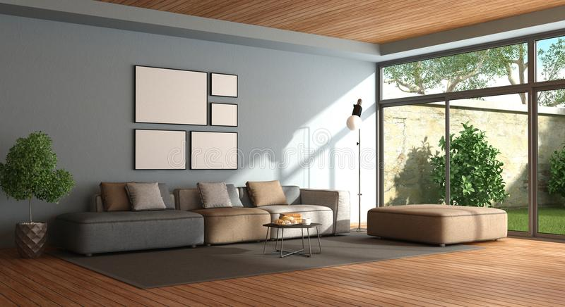 blue couches living rooms minimalist. Download Minimalist Living Room Stock Illustration. Illustration Of Couch - 110603416 Blue Couches Rooms S