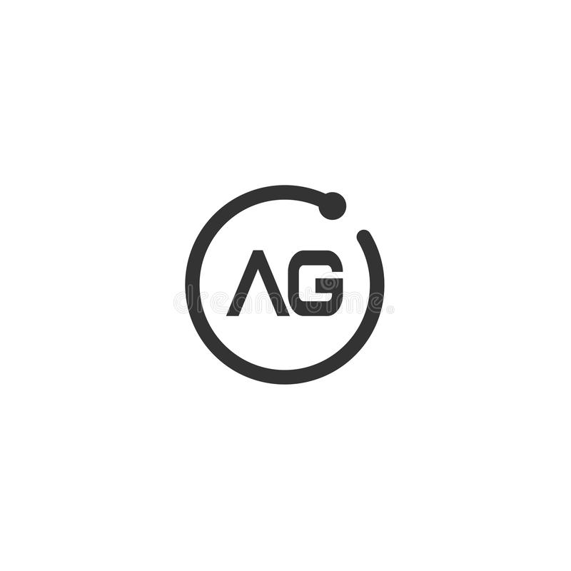 Initial Letter AG Logo Template Vector Design royalty free illustration