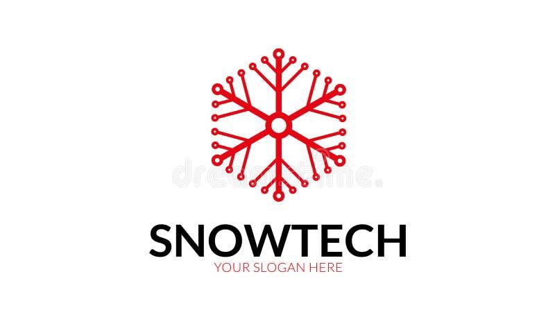 Snow Tech Logo Template vector illustration