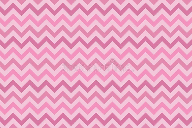 Minimalist pink zig zag background. Dynamic, delicate and fun texture vector illustration