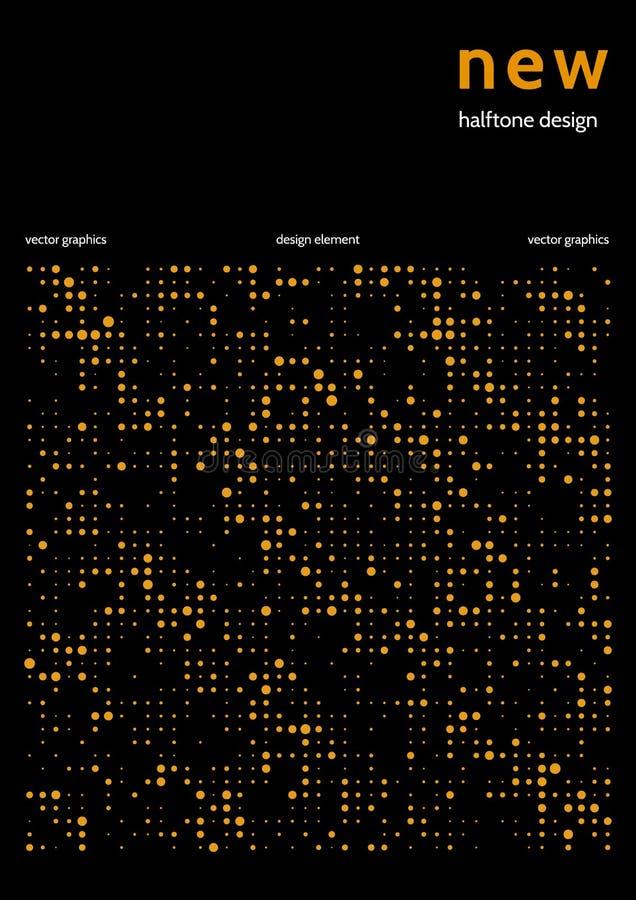 Minimalist räkningsdesign med färghalvton Vektordesign för rapport i minimalist techstil stock illustrationer