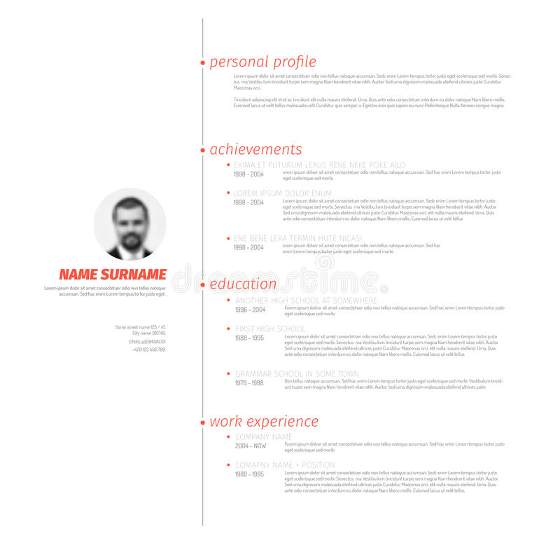 Minimalist resume cv template with nice typography stock vector download minimalist resume cv template with nice typography stock vector illustration of business experience yelopaper Gallery