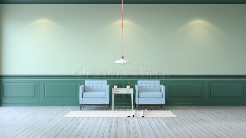 light blue house interior
