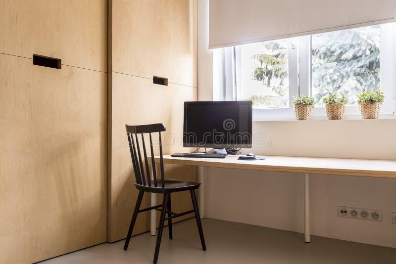 Minimalist scandi house office royalty free stock images