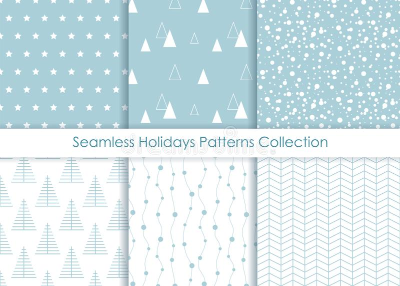 Minimalist seamless Holidays Prints Collection. vector illustration
