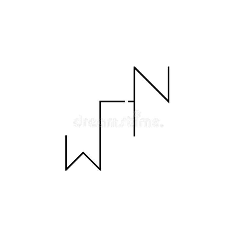 Minimalist seger Logo Design på vit bakgrund stock illustrationer
