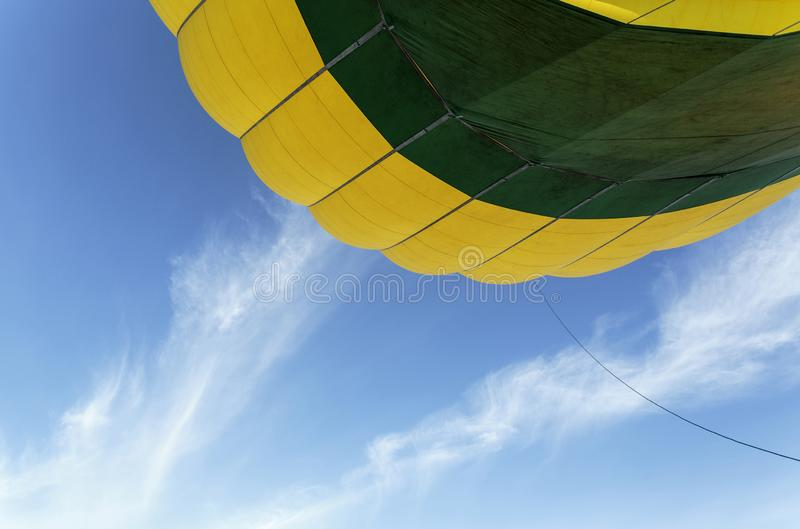Minimalist view of a hot air balloon stock image
