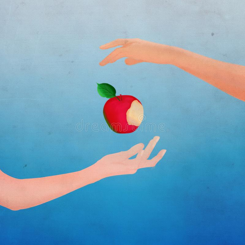Minimalist Vintage Snow White Poster Design royalty free illustration