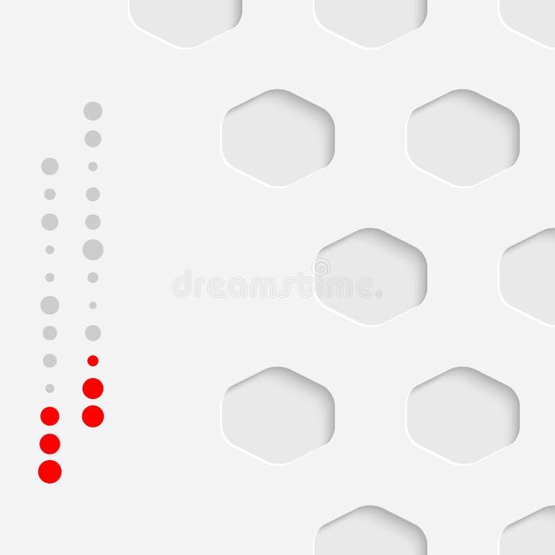 Minimalistic名片背景 传染媒介六角形墙纸 皇族释放例证