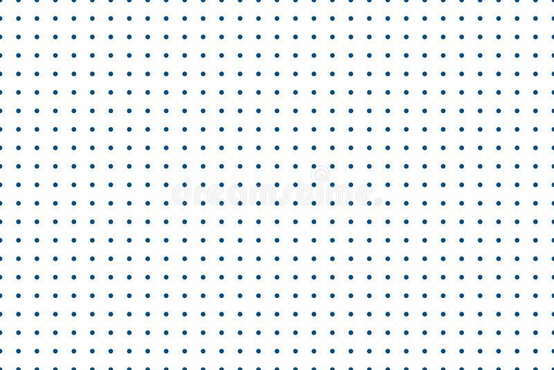 Minimalistic无缝的背景 背景充满圈子在相等的距离 多才多艺的几何纹理 库存例证