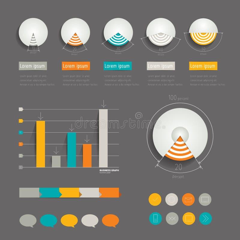 Minimalistic现代infographic文件夹 皇族释放例证