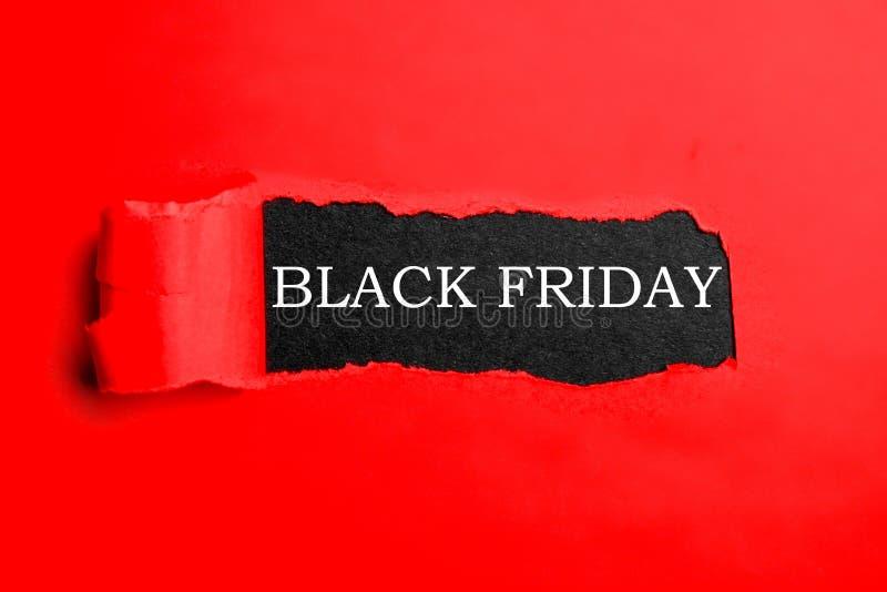 Minimalistic黑星期五销售购物事件的电视节目预告横幅 免版税库存图片