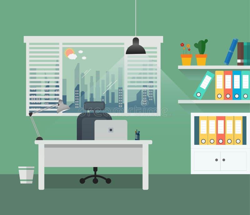 现代办公室设计师工作场所设计  库存例证