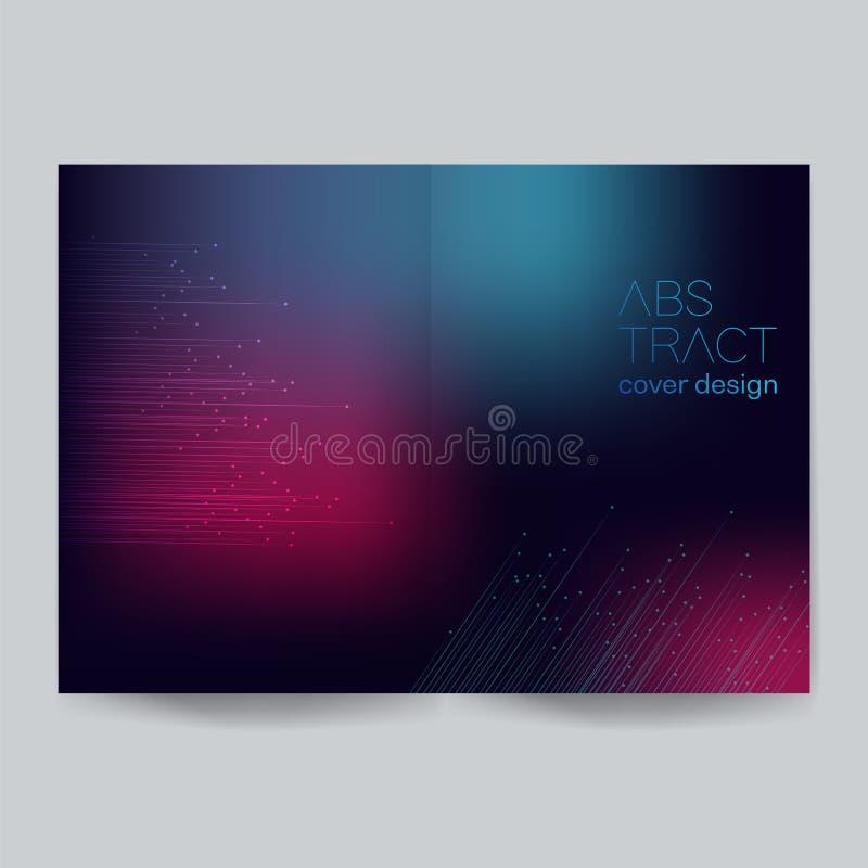 Minimalistic-Abdeckungsentwurf - Illustration Hintergründe, Verbindung, Computer-Animation, Bewegung, Ideen lizenzfreie abbildung